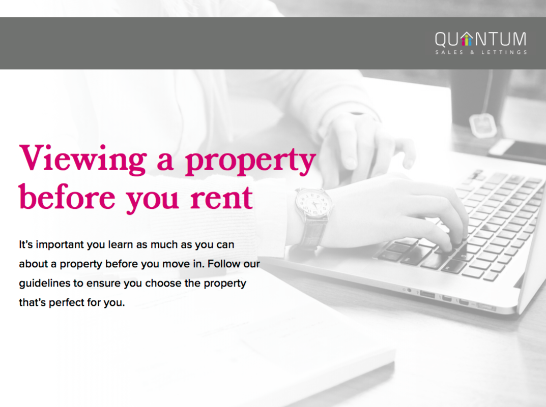 Quantum's Student Guide To Viewing A Property
