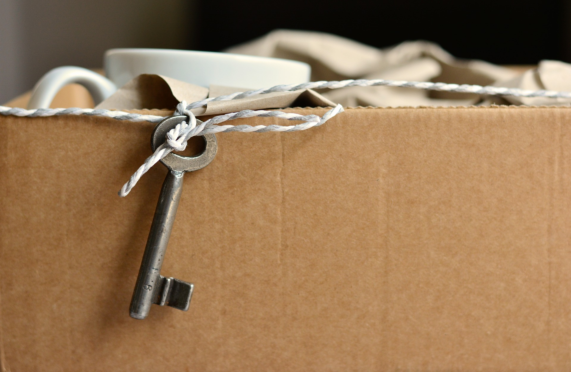 box and key when moving out of a property