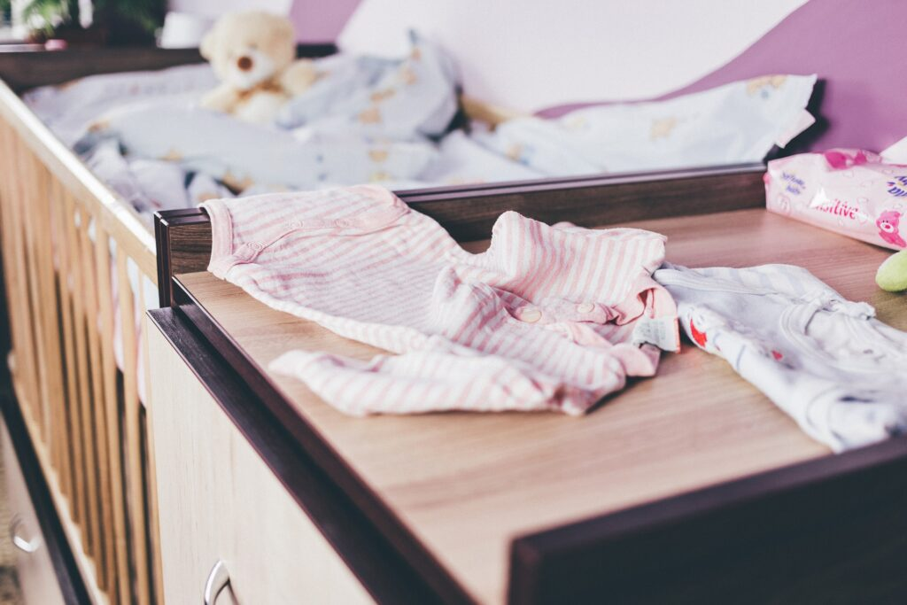 crib with babygro