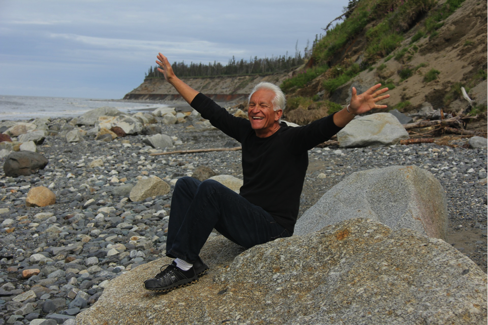 pensioner on a beach