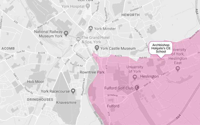 Archbishop Holgate Secondary School York Catchment Area