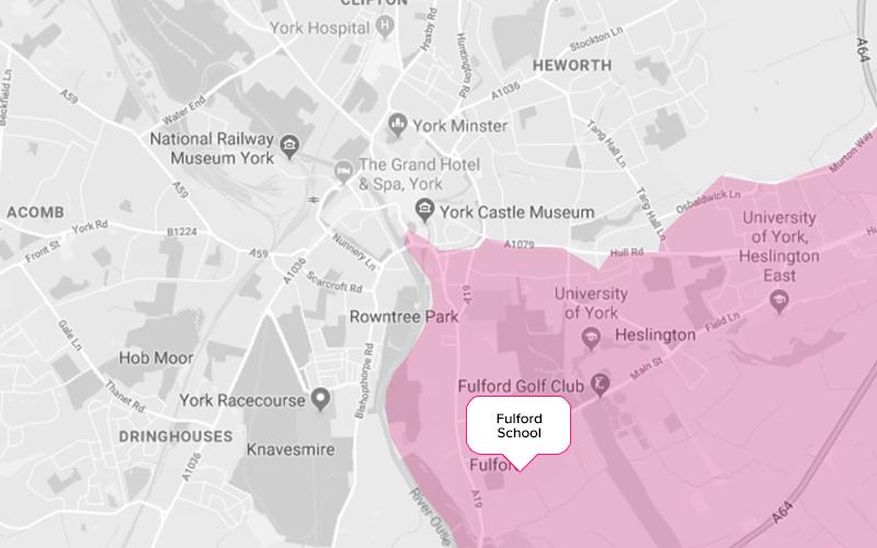 Fulford Secondary School York Catchment Area