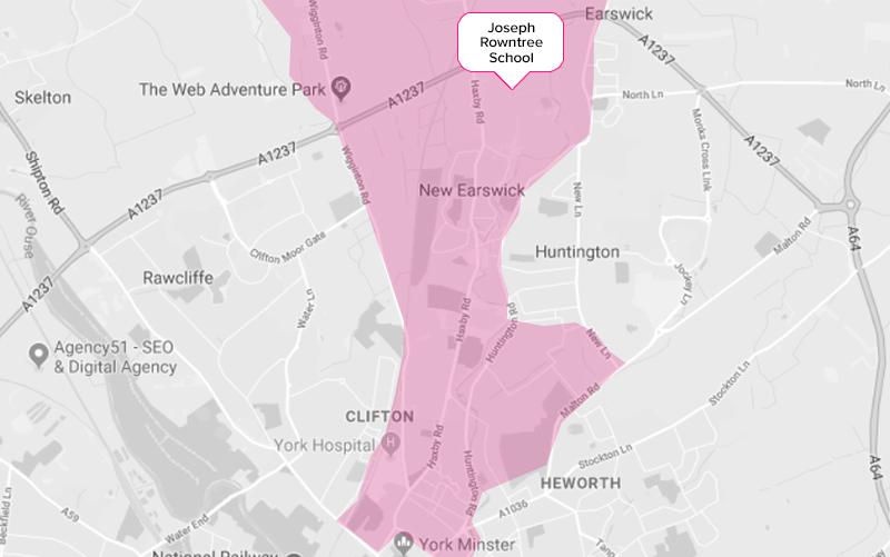 Joseph Rowntree Secondary School York Catchment Area