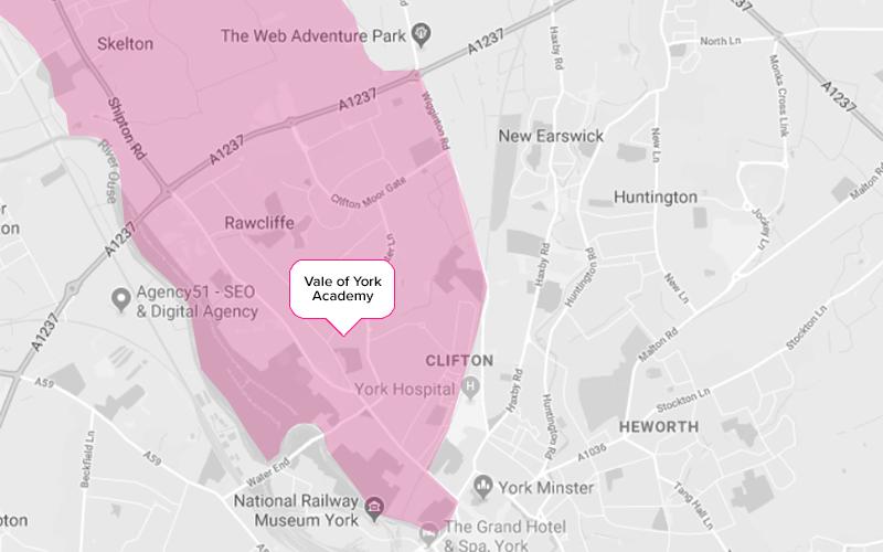 Vale of York Secondary School Catchment Area