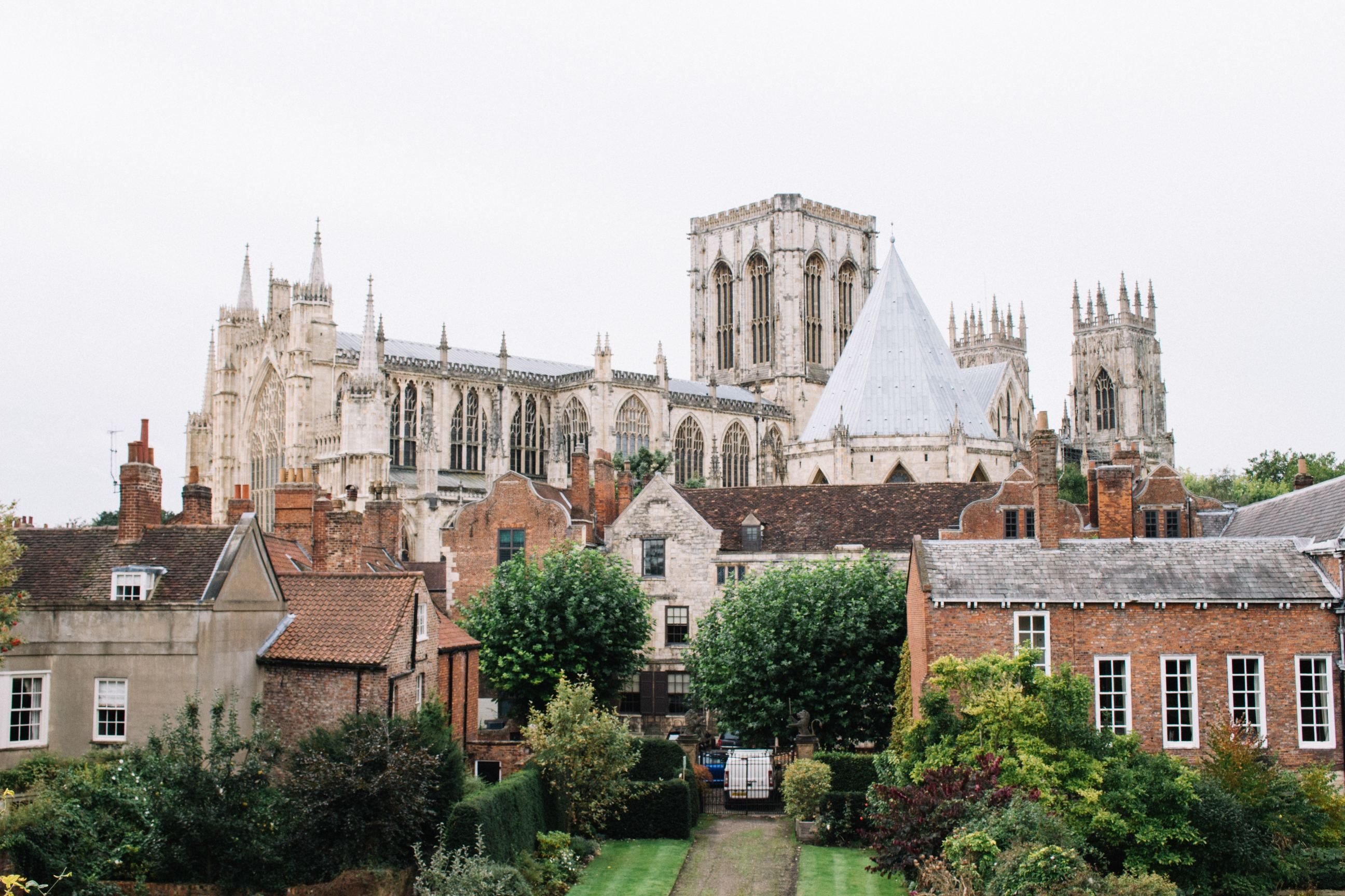 York Minster with houses