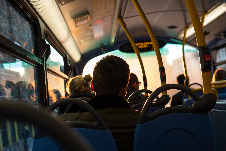 inside of a York bus