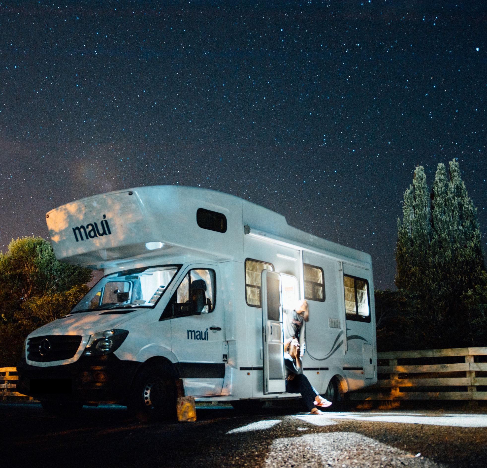 caravan under the stars