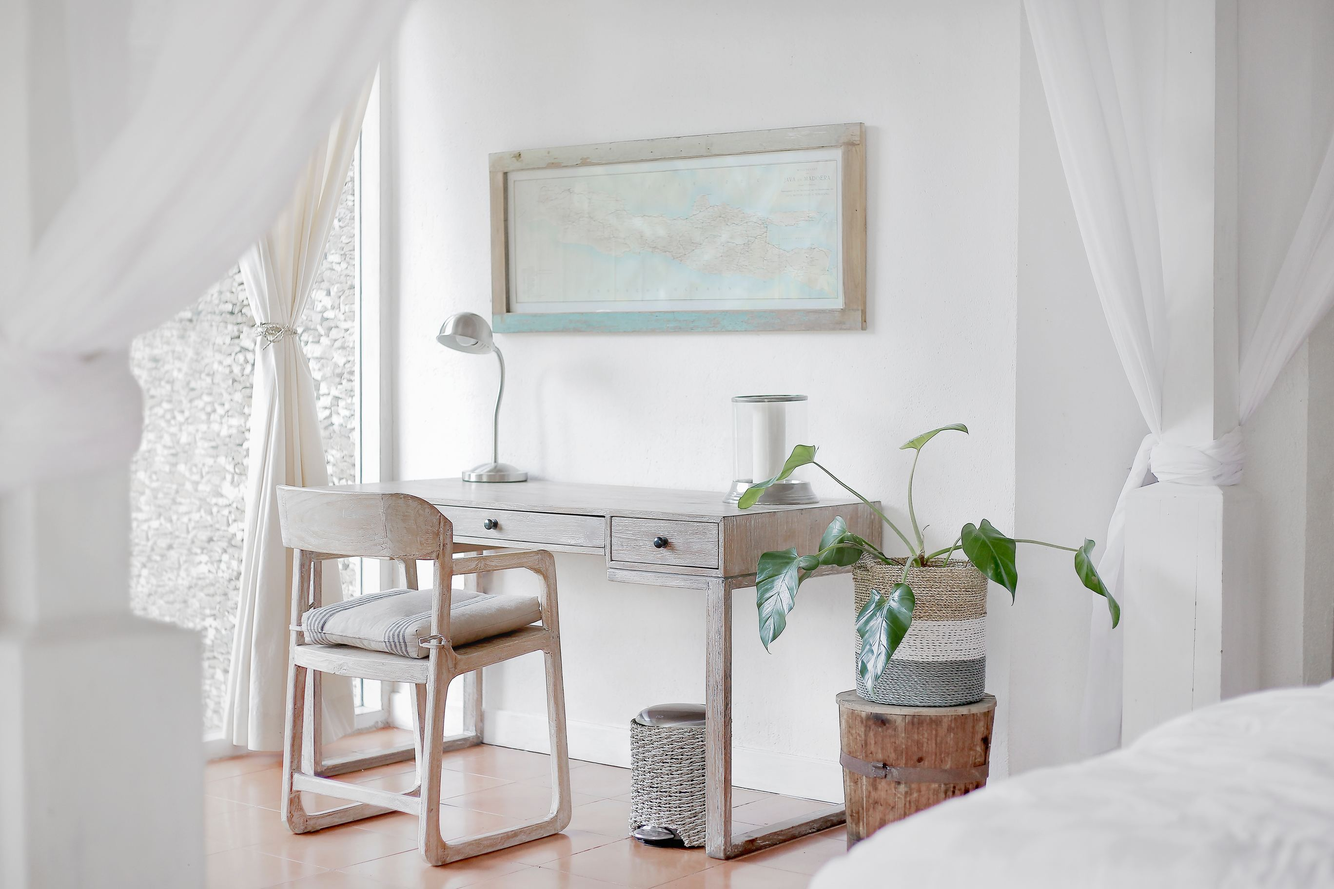 bedroom with desk and chair