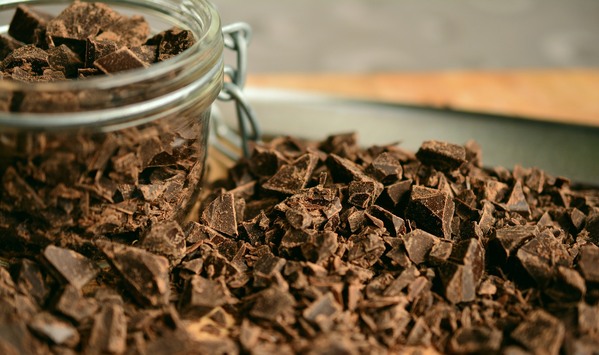 chocolate in a jar