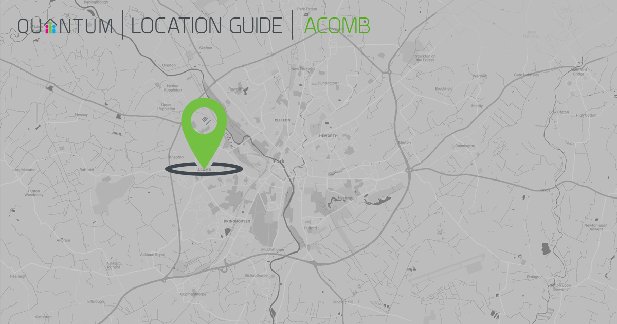 Acomb York map