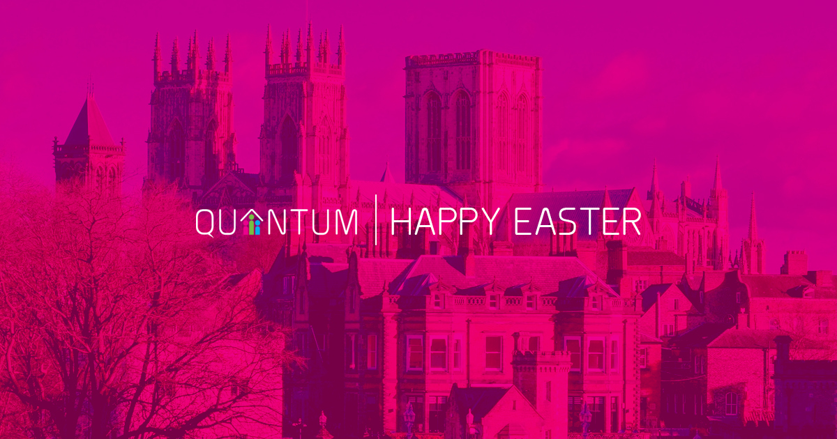 York Minster with Easter message