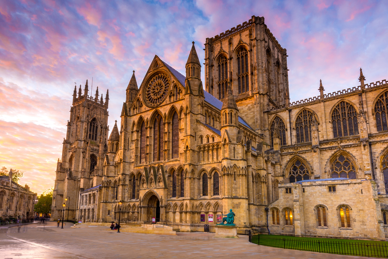 York minster sunset